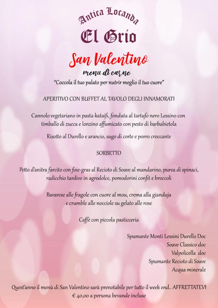 La nostra proposta per il Menù di carne per San Valentino 2019.. vieni a farti coccolare per una serata romantica