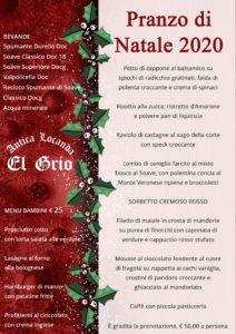 Menu Natale 2020 Locanda El Grio