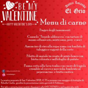 San Valentino 2021 Locanda El Grio Soave carne