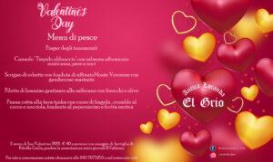 San Valentino, proposta di pesce del ristorante Antica Locanda El Grio a Soave